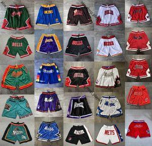 2020 nuova autentica cucitaNba # Mens Shorts Hip-hop ha cucito Tutti Città Nome team Anno Id Tag Proprio Don Pocket Pallacanestro Pantaloncini TOP Men