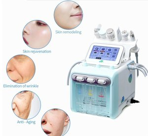 2020 Newest 6 In 1 H2-O2 Hydra Dermabrasion Rf Bio-Lifting Spa Facial Hydro Water Microdermabrasion Facial Machine Cold Hammer Oxygen Spr