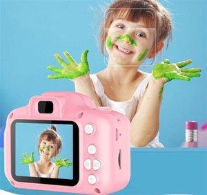Mini cámara cámaras de niños para niños pantalla HD USB Chargable digital lindo juego de cartas micrófono 32GB TF electrónica juguetes al aire libre Fotografía DHL