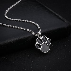 Cute Puppy Claws Birthstone In Memory Of Charms Dog Pet Memorial Ashes Urn il pendente della collana per le ceneri Keepsake Urna Cremazione gioielli ps1112