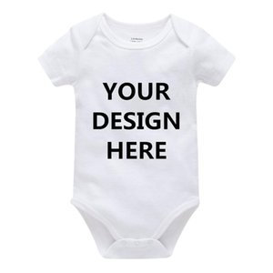 Kavkas Short Sleeve Summer Baby Rompers Custom Design Printing Cotton Short Sleeve Baby Clothes Solid Unisex Clothing