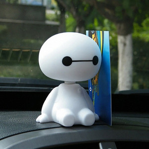 10pcs / lot Balançando Ornamento Carro Chefe Robot boneca Automobiles Decoração bonito Interior Painel Bobble Head Toy Acessórios 3iTU #