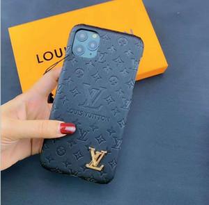 LussolvCasi Designer del telefono per iPhone 11 Pro Max 6 7 8plus pelle XS XR PU copertura di protezione del telefono mobile bordo Classic soft