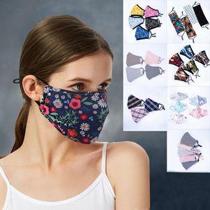 Partido animado lindo del oso 3D Máscara de impresión inferior de los niños de la media cara adulto boca de mufla Máscara reutilizable polvo caliente máscaras del partido del algodón a prueba de viento