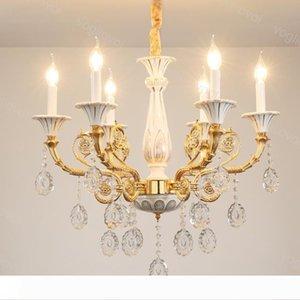 Хрустальные люстры Современные K9 Кристалл E14 керамические пластины Домашнее освещение Крепеж Подвеска Droplight Living Dining DHL