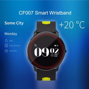 Alta calidad CF007 Deporte inteligente reloj redondo gran pantalla táctil LCD de 0,96 pulgadas Bluetooth Mult-función Smart Muñequera