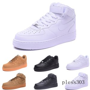 fly high quality Classical men women Unisex low Casual shoes mens womens one 1 White star platform Sandals shoes DRT9C