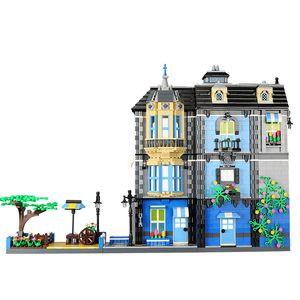 Doll Pcs Mini Kit Store Toys Furnishing Blocks DIY Building Model Toys House City View Street 2313 Garden Home Assembly Coffee 01 Dovig
