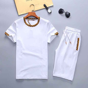 2020Mens Tracksuits Men's Jogging Suits Short Sleeve T Shirt and Shorts Spring Summer Casual Unisex Brand Medusa Sportswear Sets