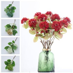 "Fake Single Stem Coral Fruit 20.1"" Length Simulation Pladtic Flower for Home Wedding Decorative Artificial Flowers"