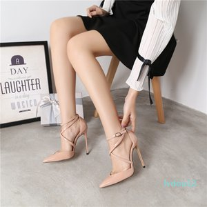 Hot Sale- women Classic Black nude red patent point toe wedding shoes high heels thin heeled shoes pumps genuine leather