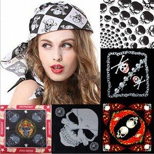 Máscara Atacado New Cotton Pirate Skull Bandana Rosto Halloween Costume Headband Scarf Pulseira bufandas Nq674106 xSyB #