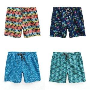 V-бренд шорты брюки черепахи летние пляжные брюки мужские пляжные виды спорта путешествовать отдых моды рыхлые быстросохнущие шорты цветок