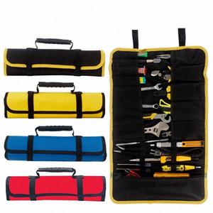 Multi-función de la caja de herramientas Bolsa de tipo carrete de la madera electricista reparación de la lona del instrumento de almacenamiento portátil Caso # nwRM