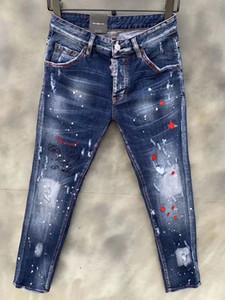 2020, la nueva marca Fashion European and American Summer Men's Weans Jeans son jeans casuales para hombres LA9132