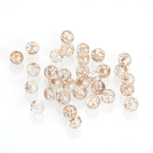 400 Pcs 6 MM Golden Sprayed Acrylic Antique Design Round Spacer Loose Beads For Women Diy Jewelry Making Bracelet & Necaklce