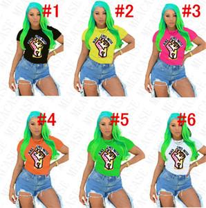 BLACK LIVES MATTER Women T-shirt Designer Cartoon Crew Neck Tops Tees Short Sleeves Shirt Plus Size Summer Females Clothing Suit 2020 D7805
