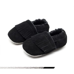 Baby Boys Girls Moccasins, Soft Tassel Crib Shoes Non-Slip Sole First Walkers Flats