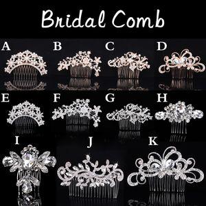 Elegant Wedding Hair Combs for Bride Crystal Rhinestones Pearl Women Hairpins Bridal Headpiece Hair Jewelry Accessories Hairwear