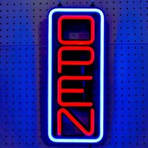 elbise için 8''x19 '' açık neon işareti istikrarlı Light Up Kahve dükkanı vitrin