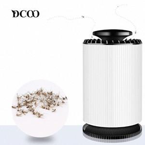 DCOO asesino del mosquito USB Bug Zapper eléctrico cubierta con 360 grados LED ventilador fuerte luz UV de la lámpara de succión Matar Mosquito lámpara 7DKB #