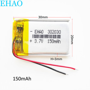 mini hoparlör MP3 bluetooth Kaydedici kulaklık kulaklık 302030 için Koru borad gücü ile 3.7V 150mAh Lipo Li-Polimer şarj edilebilir pil