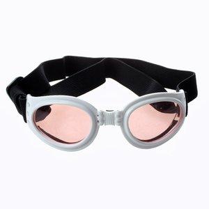 White Framed Pet Puppy Dog UV Protection Goggles Sunglasses Eyewear