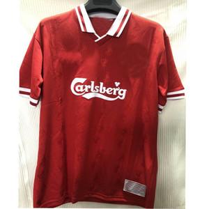 1996 1997 retro weiß Rausch Torres Kuyt Fowler JOHN BARNES Fußball-Trikot 96 97 zu Hause weg klassische Vintage Fußball-Rot-Hemd