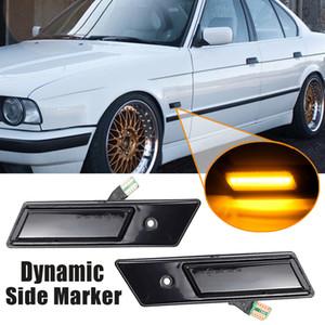 2pcs dinámico LED marcador lateral, luz de la vuelta que fluye la luz de señal intermitente para BMW Serie 3 5 7 E32 E34 E36 1990-1996