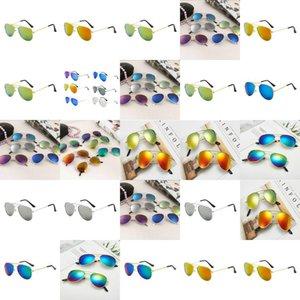 Toddler Colorful Reflective Yurt Boys Aviator Sunglasses Gafas Sol Ninas Occhiali Da Sole Bambina 3 Anni Lunette Aviateur Enfant qALcd