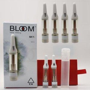 Bloom cartucho de 0,8 ml 1 ml vazio canetas vape 510 Tópico Cerâmica Tubo Carrinhos PVC Chirldproof Vape cartuchos de Embalagem