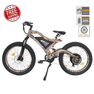 Aostirmotor Electric Mountainbike Fettreifen Elektrische Fahrrad Strand Cruiser Schnee Bike 1500W E-Bike 48V 14.5ah Lithiumbatterie