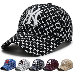 i3aOS Straight hair Korean sports hat ny Baseball Wo men women baseball cap men's and women's cap sunshade hip-hop all-match letter embroide