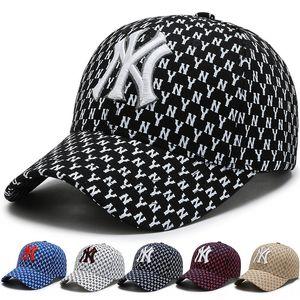 i3aOS chapéu cabelo liso coreano esportes ny Baseball Wo homens mulheres boné de beisebol Bordados de tampa pára-sol hip-hop all-jogo carta das mulheres dos homens e
