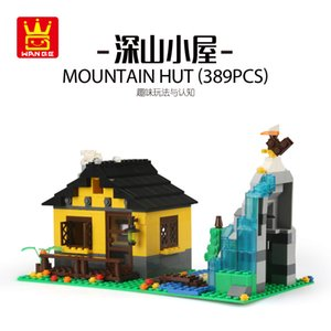2020, the new design of a unique best-selling Remote mountain resort series DIY model house building toys children's building toys
