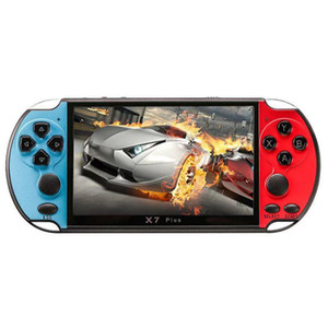 X7 Plus Portable Retro Handheld Game Console 5.1 inch LCD Color 8GB Double Rocker Video Game Player Free DHL