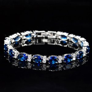 Luxury Woman Bracelet Best Quality Full Diamond Bracelet Micro Cubic Zirconia Copper Plating Fashion Copper Set Diamond 17.8cm