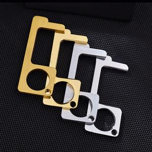 15 Diseño de Prensa Ascensor botón de la manija sin contacto de la herramienta sin contacto de puerta seguro de empuñadura de metal clave de aislamiento de protección de la seguridad sin contacto abridor