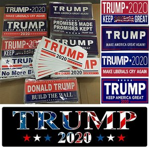 Donald Trump 2020 Car Stickers Bumper Sticker Keep Make America Great Decal for Car Styling Vehicle Paster Banner Party Supplies IIA264
