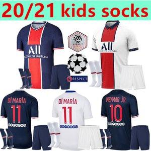 Maillots de kits de futebol 20 21 PSG jérsei de futebol 2020 2021 Mbappé ICARDI Neymar camisa JR crianças conjuntos de uniformes maillot de hommes pé enfants