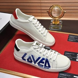 Men &#039 ;S Ace Sneaker With Loved Print Mens Shoes Vintage Design Leather Type Comfortable Shoes Lace -Up Low Top Sports Men Shoes Scarpe