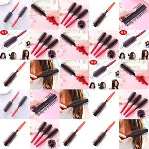1 Pack Comb Hair Brush Hairdressing Brushes Curly Plastic Handle Styling Barber Combo Pocket Long Round Holder Good Looking Popular OKyTJAOY