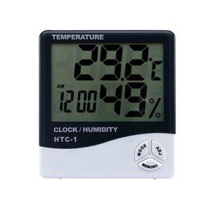 Temperatura Digital higrômetro relógio medidor de umidade Interiores higrômetro Termômetro ao ar livre Estação meteorológica com relógio BWC453