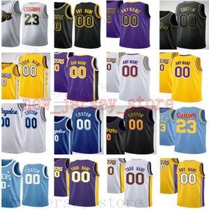 Bedruckt Custom Jerseys Top-Qualität Mann 2020 New Gelb Schwarz Weiß Violett Blau Jersey. Nachricht Eine beliebige Anzahl und Namen auf Bestellung
