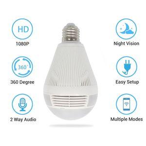 1080P Bulb Camera Surveillance Head WiFi Network Camera LED Bulb Light Multifunctional Surveillance Wholesale Ip Remote White