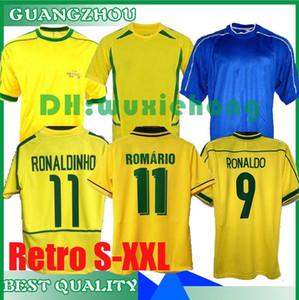 1988 1994 1998 2000 2002 2004 2006 히바우두 브라질 레트로 클래식 한 셔츠 카를로스 로날도 호나우지뉴, 히바우두 호마리우 레트로 축구 유니폼 S-XXL