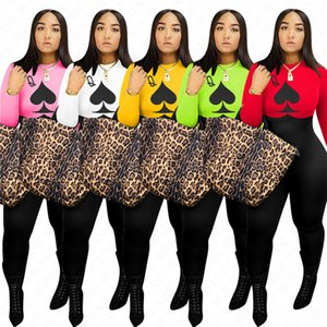Конструктор 2020 Весна Длинные рукава Женщины Комбинезон One Piece Romper Брюки Bodysuit Luxury Ladies Комбинезоны Party Tight Catsuits Boutique D72305
