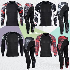 GYM Tights Sports Men's Compression Sportswear Suits training Clothes Shirt Workout jogging Sports Clothing Tracksuit Rashgard