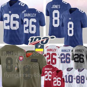 8 Daniel Jones 26 Saquon Barkley Jersey NewIorqueGiganteEli Manning 11 Phil Simms 87 Sterling Shepard Futebol Equipamentos S-XXXL
