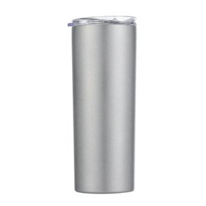 2020 Skinny Tumblers Stainless Steel Drinking Cup With Straw Double Wall Vacuum Insulation Cup Straight Portable Coffee Mug A04 From srHLO